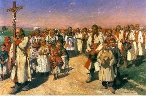 Tetmajer - procesja w Bronowicach