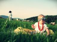 Sesja noworodkowa i dziecięca w stylu ludowym