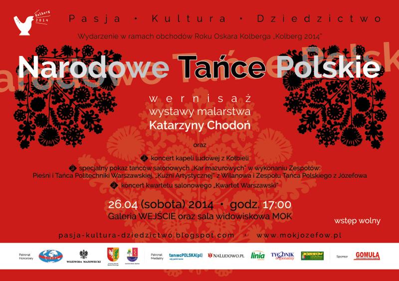 Plakat Narodowe Tańce Polskie