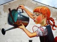 Dziewczynka z konewką – mural Natalii Rak w Bydgoszczy