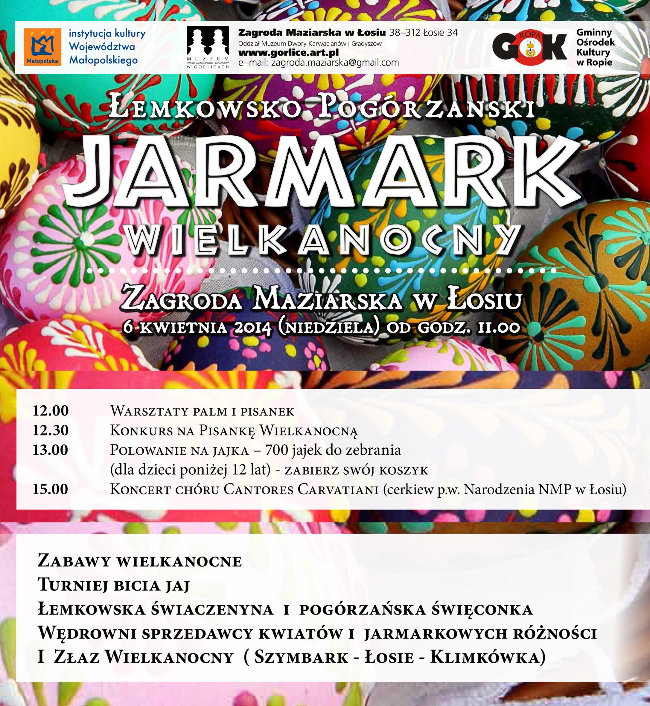 plakat Jarmark Wielkanocny Łemkowsko-Pogórzański