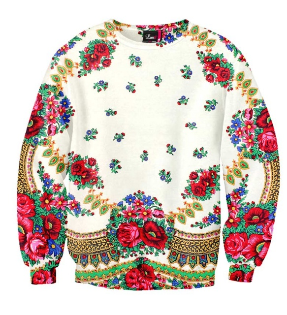 Bluza folk - wzory ludowe