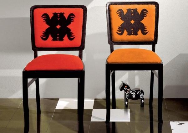 Etnodizajn - folkowe krzesła