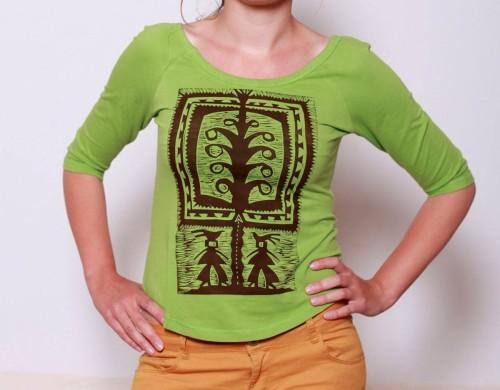 Ruuzga - koszulka z wzorem wycinanki ludowej