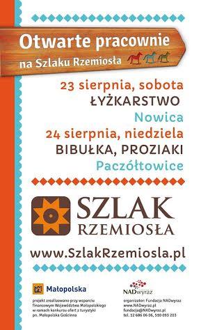 Plakat - Warsztaty na Szlaku Rzemiosła 2014