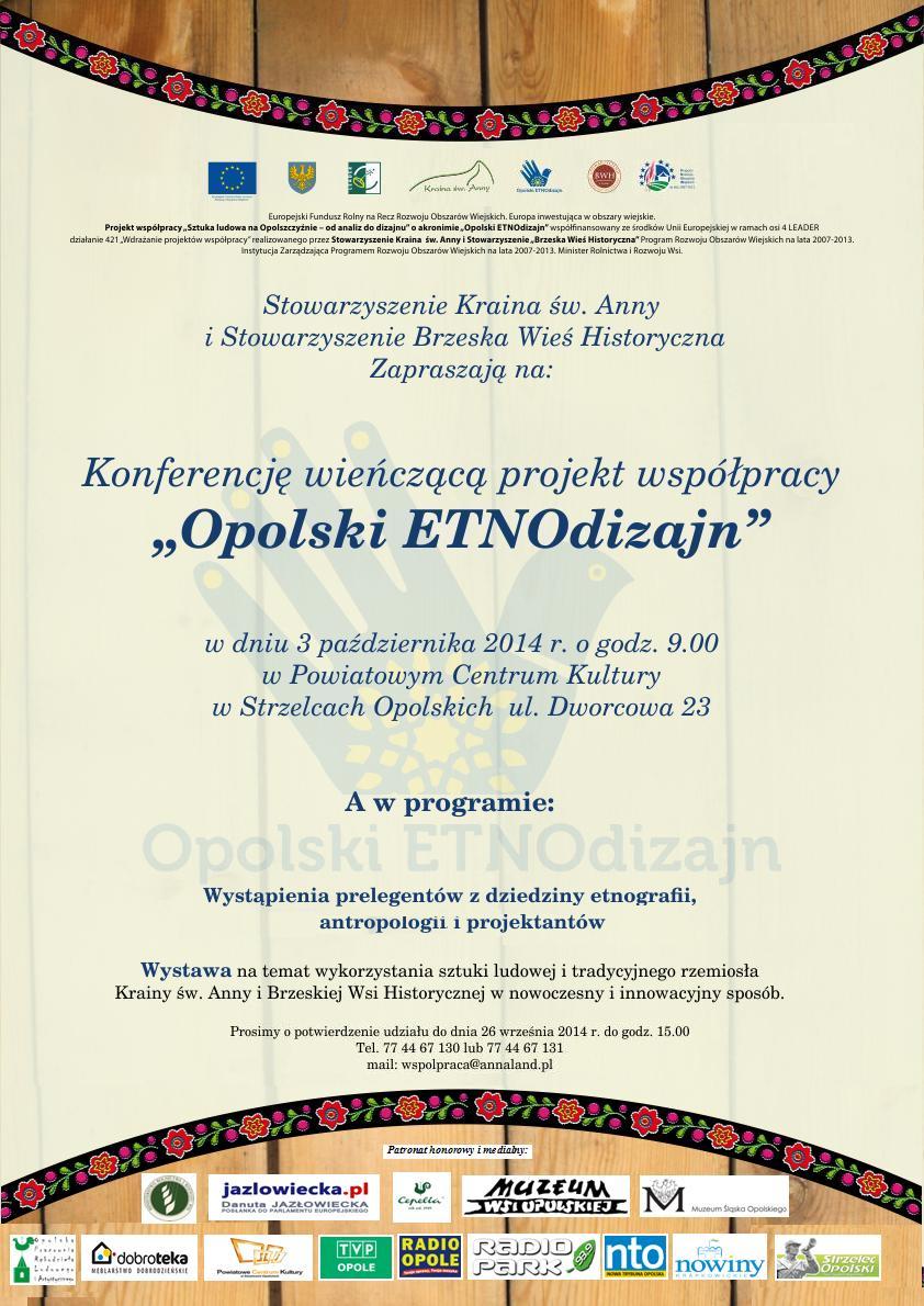 Opolski ETNOdizajn - plakat