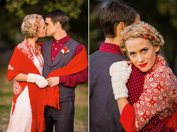 Jesienna sesja ślubna - rustykalny plener (fot. www.brittanydow.com)