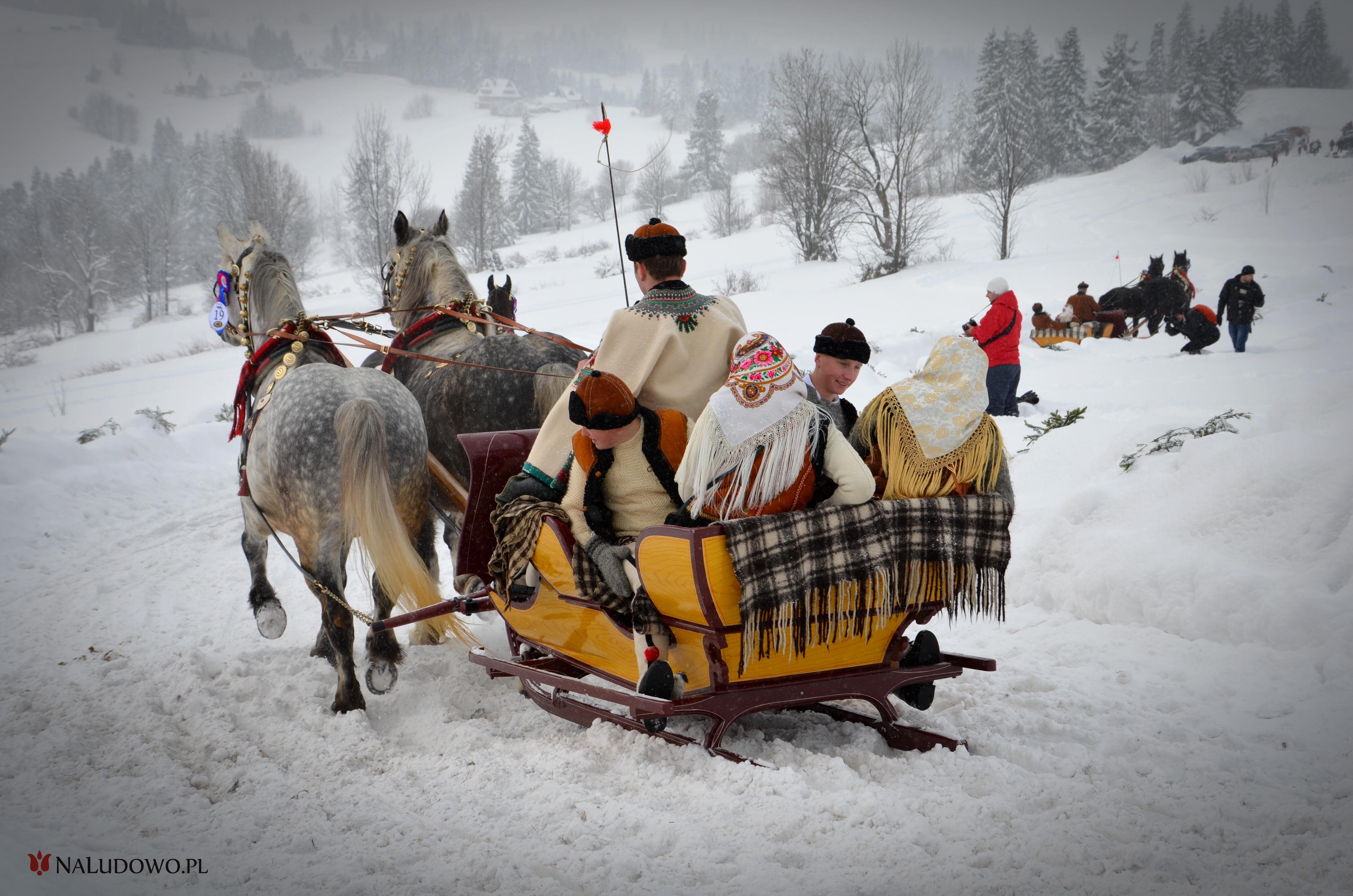 Kumoterki na Podhalu, zaprzęg konny (fot. Magdalena Armata)