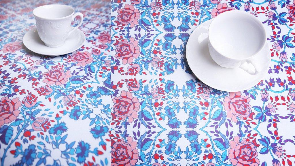 Design Dolnośląski - tkanina w ludowe róże