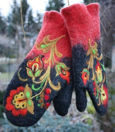 Rękawiczki z filcu manualni.pl