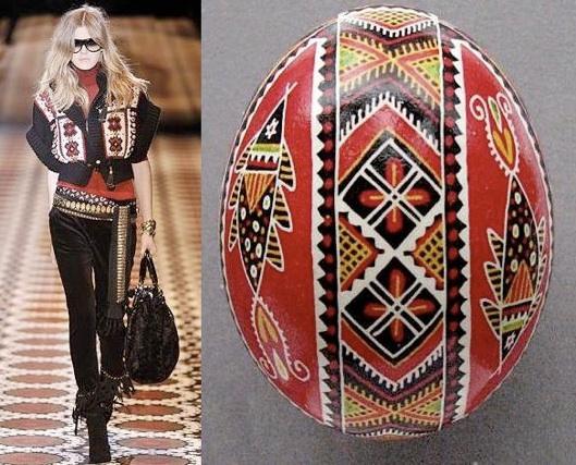 Pisanka wielkanocna jako motyw przewodni kolekcji Gucci (fot. www.pysanky.info)