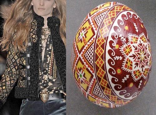 Kolekcja Gucci - wzory ludowe pochodzace z pisanek  (fot. www.pysanky.info)
