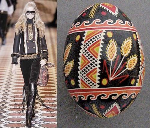 Pisanka ukraińska, kolekcja Gucci 2008 (fot. www.pysanky.info)