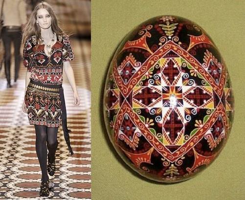 Pisanka - wzór ludowy, kolekcja Gucci 2008 (fot. www.pysanky.info)