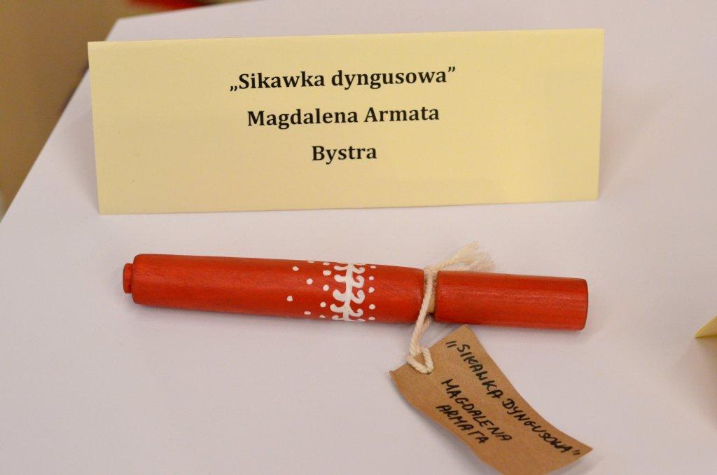 Sikawka dyngusowa na wodę z drewna