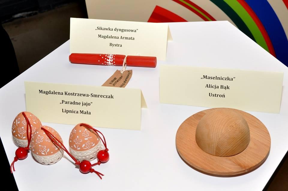 Nagrodzone prace: Sikawka dyngusowa, Paradne jajo oraz Maselniczka  (Fot. Jan Ulicki Photography)