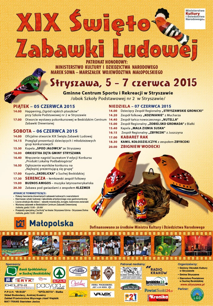 XIX Święto Zabawki Ludowej w Stryszawie, program