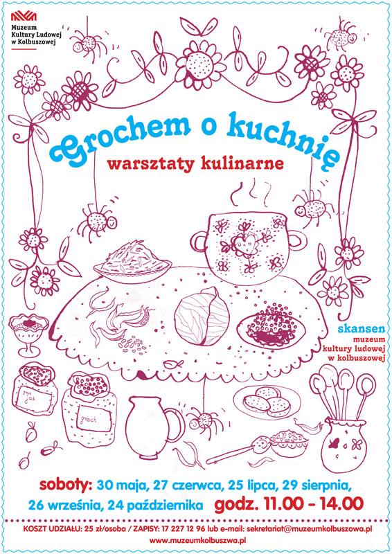 Warsztaty kulinarne w Muzeum Kultury Ludowej w Kolbuszowej - plakat