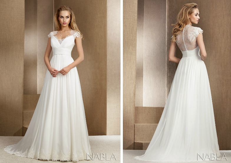 Model: Meryl, Nabla - rustykalna suknia ślubna