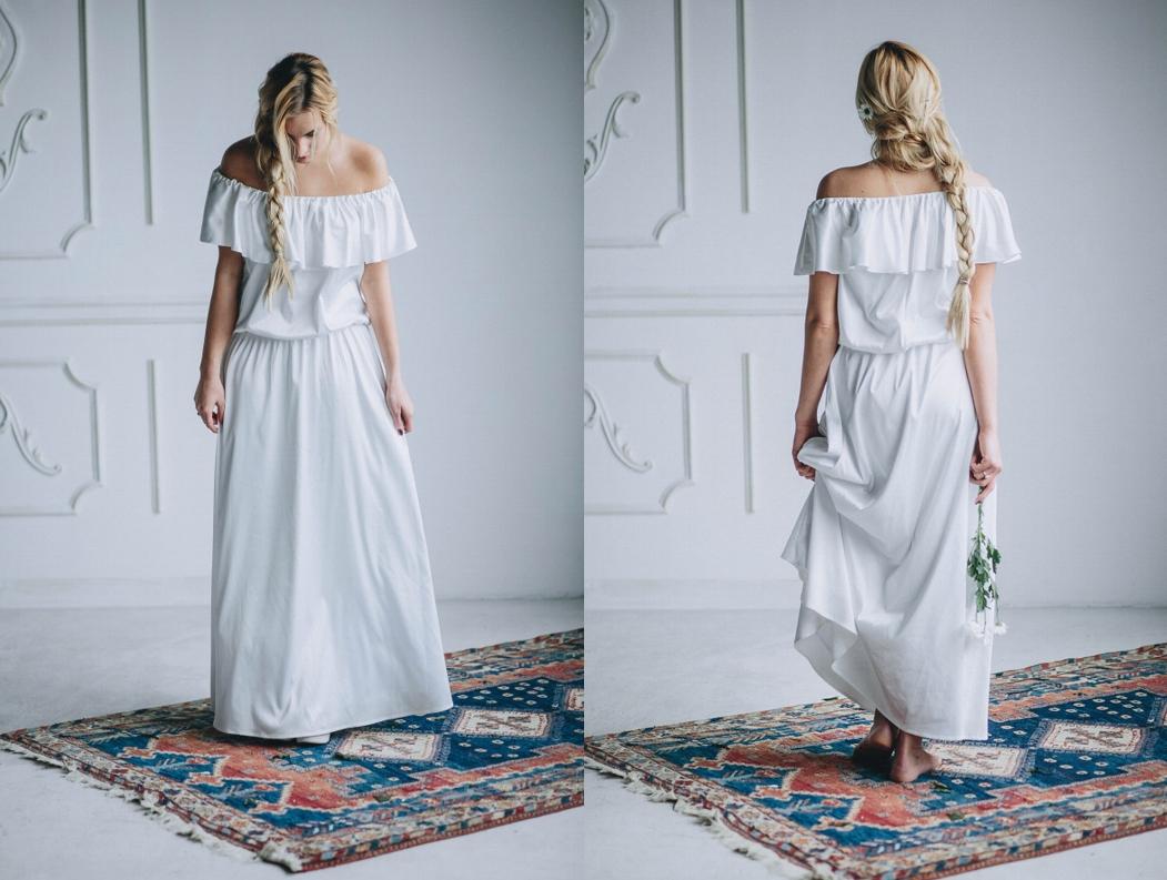 Model: Milou, Boso - rustykalna suknia ślubna