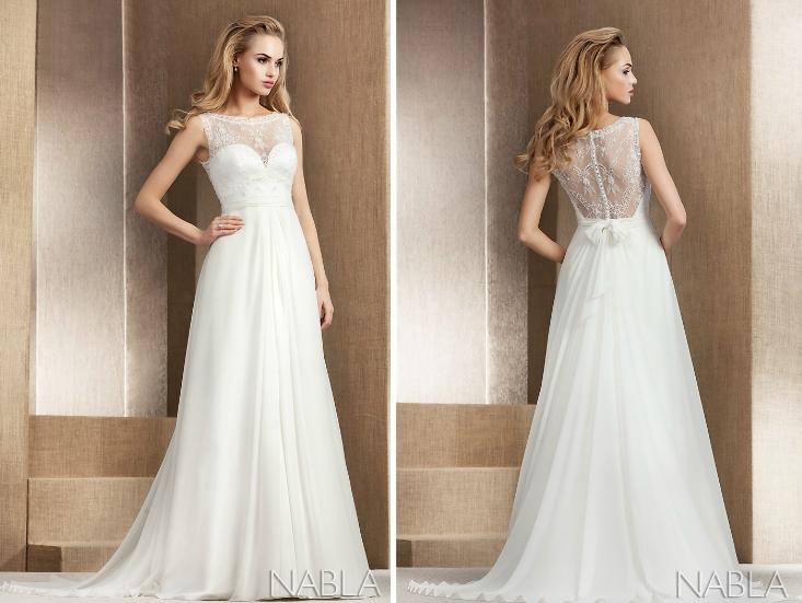 Model: Muriel, Nabla - rustykalna suknia ślubna