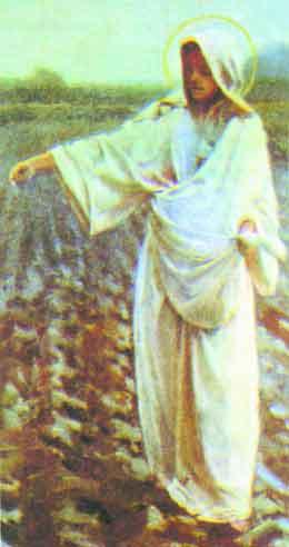 Obraz Matki Boskiej Siewnej autorstwa P. Stachiewicz