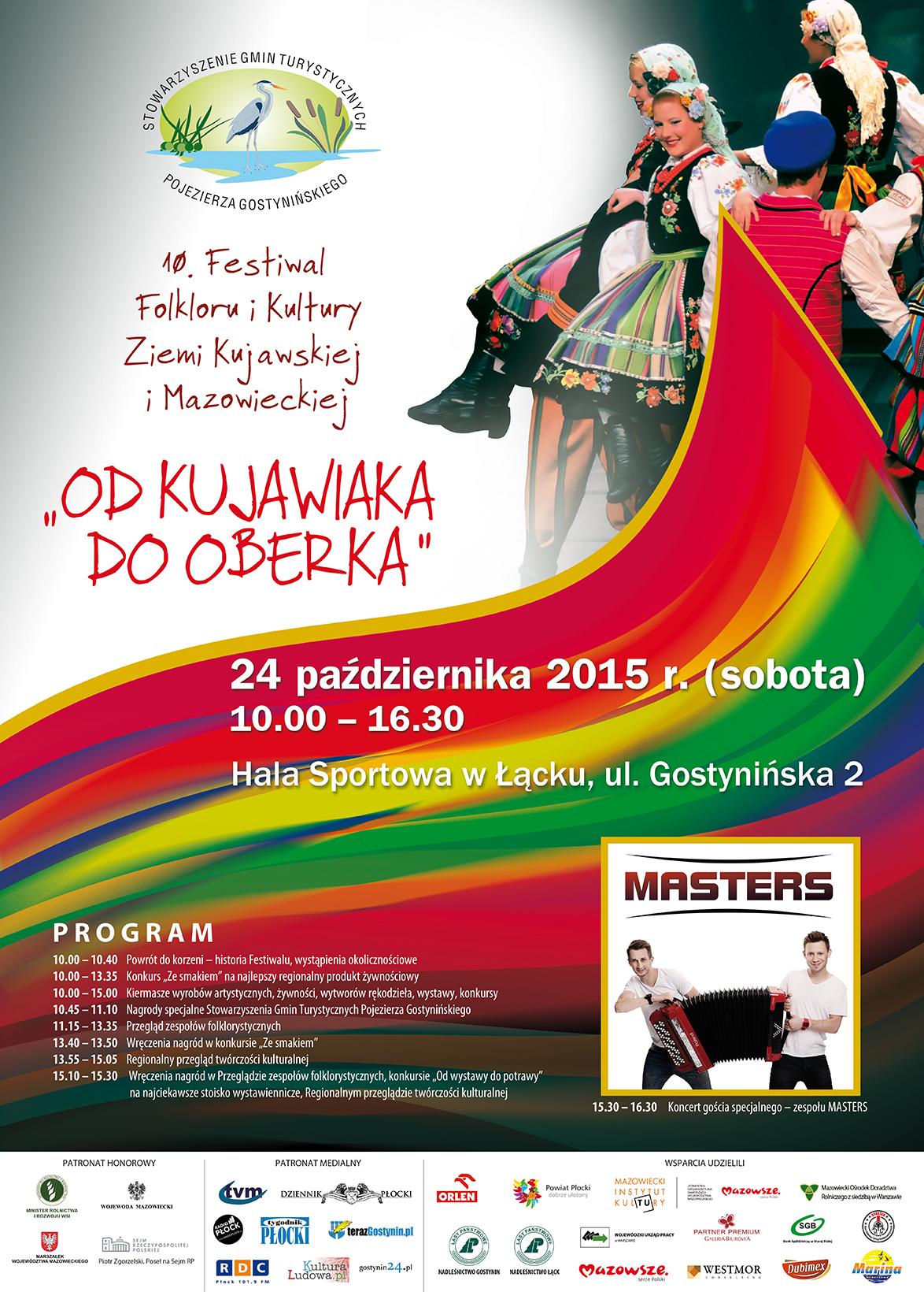 """plakat festiwalowy """"OD KUJAWIAKA DO OBERKA"""" – 24 PAŹDZIERNIKA, ŁĄCK"""
