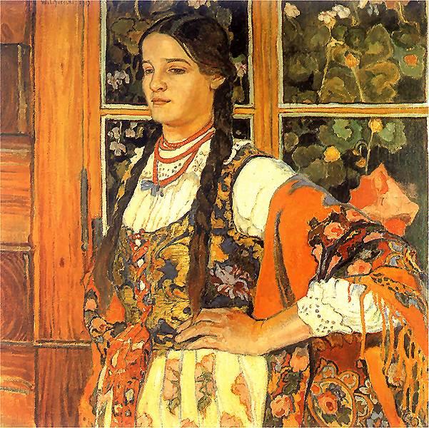Helenka przy oknie, W. Jarocki,  1913, źródło: www.pinakoteka.zascianek.pl